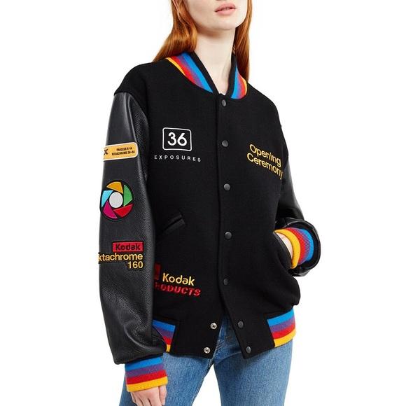 0827d8c1 Opening Ceremony Jackets & Coats | Ocexclusive Kodak Varsity Jacket ...